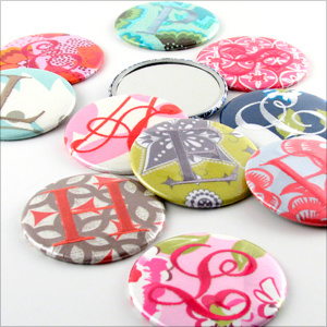 Personalized Purse Mirrors by Objects of Desire