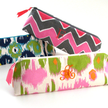 Personalized Printed Cotton Cosmetic Brush Case