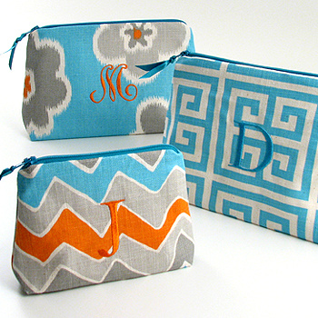Personalized Cosmetic Bags, Monogrammed Cosmetic Bags