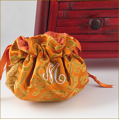 personalized brocade jewelry pouch by Objects of Desire